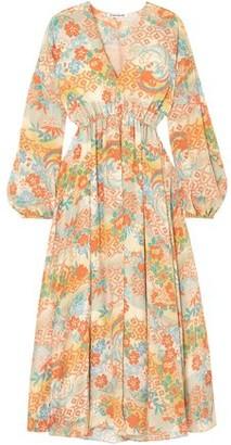 Elizabeth and James Norma Printed Silk Crepe De Chine Maxi Dress