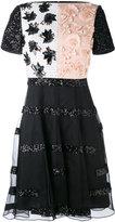 Talbot Runhof beaded embellished dress - women - Silk/Polyester/Spandex/Elastane/Cupro - 32