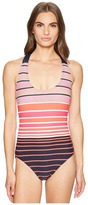 MICHAEL Michael Kors Abby Stripe One-Piece Women's Swimsuits One Piece