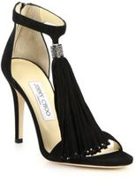 Jimmy Choo Viola 125 Crystal Suede Sandals