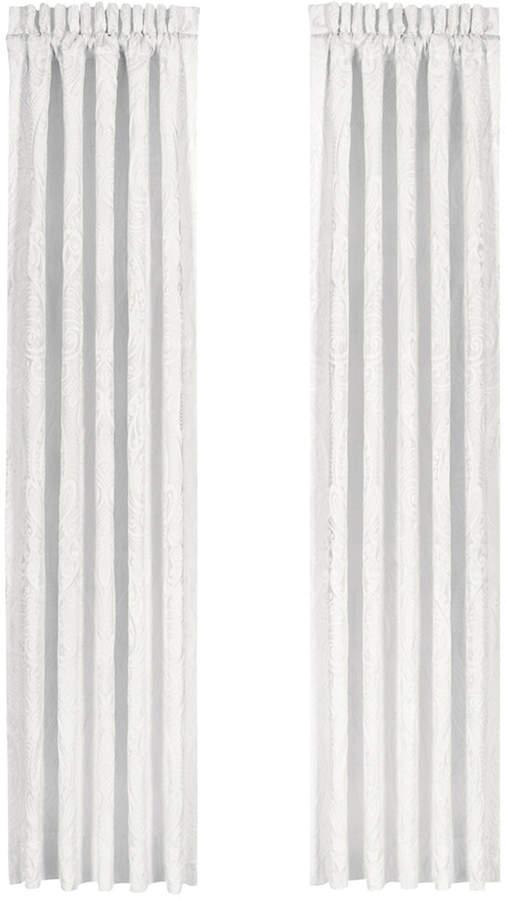 """J Queen New York Bianco 100"""" x 84"""" Pair of Window Panels"""