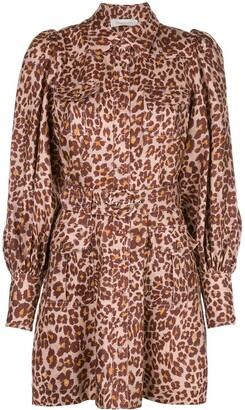 Zimmermann Leopard Shirt Dress
