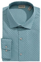 Kenneth Cole Reaction Slim Fit Cross Dot Dress Shirt