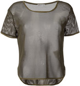 Moncler sheer mesh T-shirt