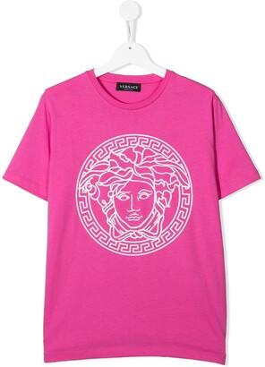 Versace medusa-head-print cotton T-shirt