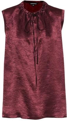 Ann Demeulemeester Hammered-satin blouse