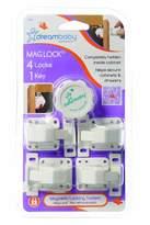 Dream Baby Dreambaby Mag Lock - 4 Locks With 1 Key (White)