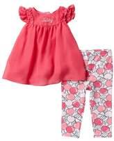 Juicy Couture Chiffon Tunic & Leggings 2-Piece Set (Baby Girls 3-9M)
