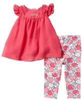 Juicy Couture Chiffon Tunic & Leggings Set (Baby Girls 3-9M)