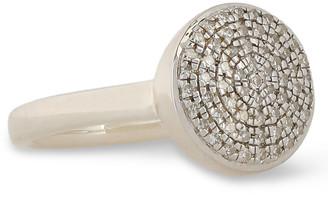 Monica Vinader Sterling Silver Diamond Ring