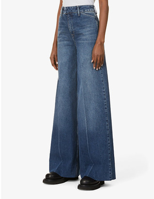 REMAIN Birger Christensen Bernadette wide-leg high-rise denim jeans