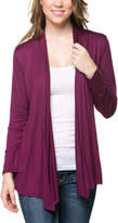 Magic Fit Plum Open Cardigan