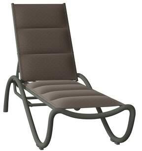 Scala Tropitone La Reclining Chaise Lounge Tropitone Frame Color: Woodland, Seat Color: Gaviota