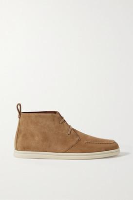 Loro Piana Namib Walk Suede Ankle Boots - Tan