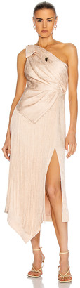 Jonathan Simkhai Wren One Shoulder Dress in Champagne | FWRD