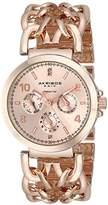 Akribos XXIV Women's AK746RG Lady Diamond Rose Gold-Tone Watch with Link Bracelet