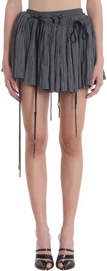 Y/Project Drawstring Detail Asymmetric Skirt