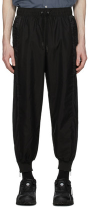 A. A. Spectrum Black Ripstop Track Pants