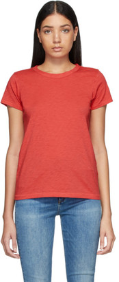Rag & Bone Red Pima Cotton The Tee T-Shirt