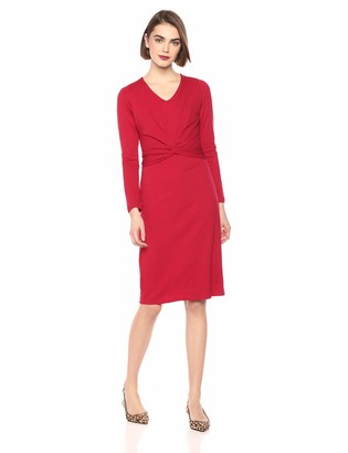 Taylor Dresses Women's Solid Long Sleeve Midi Dress