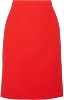 Oscar de la Renta Wool-blend Pencil Skirt - Tomato red