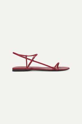 The Row Bare Leather Sandals - Red