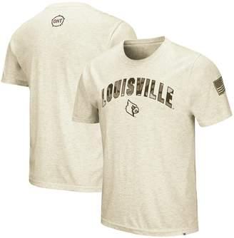 Colosseum Men's Heathered Oatmeal Louisville Cardinals OHT Military Appreciation Desert Camo T-Shirt