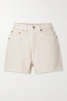 RE/DONE 50s Distressed Denim Shorts - Off-white