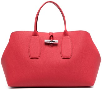 Longchamp large Roseau top handle bag