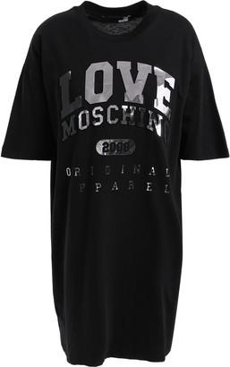 Love Moschino Metallic Cotton-jersey Mini Dress