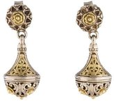 Konstantino Two-Tone Engraved Drop Earrings