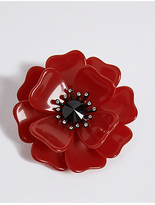 M&S Collection The Poppy Collection® Poppy Resin Brooch