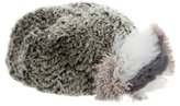 Diane von Furstenberg Fur Feather-Trimmed Beret