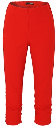 Stehmann Maria-530 Ruffle Bottom Leg Capri Trousers - Red - 18