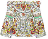 Etro Off-the-shoulder Printed Silk Blouse - Off-white