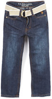 U.S. Polo Assn. Blue Black Belted Jeans - Boys