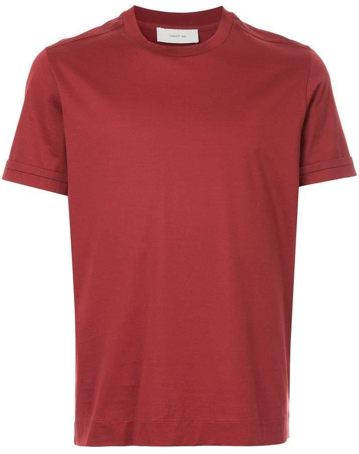 Cerruti turn-up sleeve T-shirt