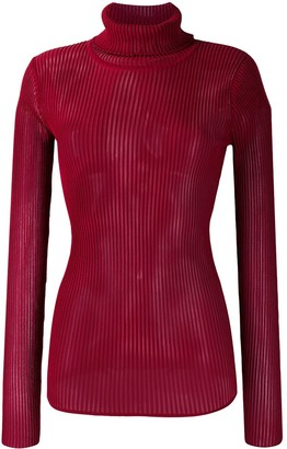 Victoria Victoria Beckham Roll Neck Knitted Top