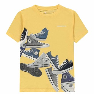Converse . Boys Asc Sneaker T Shirt Short Sleeves Age 8-14 (Topaz Gold 12-13 Years)