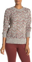 Bobeau Zigzag Space Dye Knit Sweater