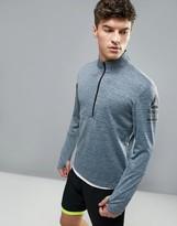 Reebok Running 1/4 Zip Sweat In Gray Marl B47138