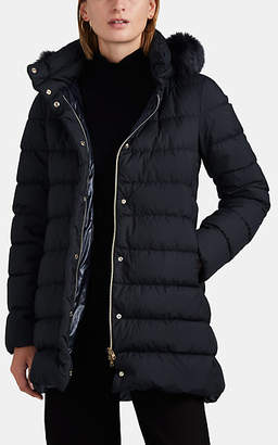 Herno Women's Hilo Fur-Trimmed Down-Quilted Puffer Coat - Navy