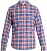 Faherty Seasons plaid brushed-cotton shirt