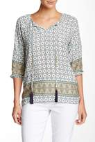 Insight Printed Tassel Detail Blouse