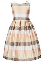 Jayne Copeland Big Girls 7-12 Metallic Stripe Taffeta Dress
