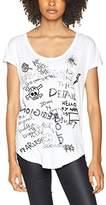 True Religion Women's Relax Tee Artwork MIX White T-Shirt