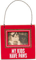 Primitives by Kathy My Kids Have Paws Mini Hanging Frame Ornament