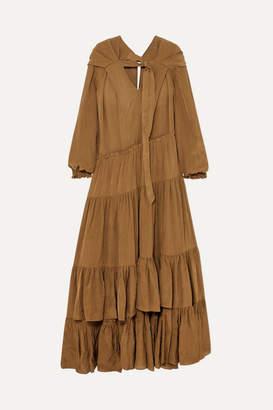 3.1 Phillip Lim Tiered Habotai Maxi Dress - Bronze