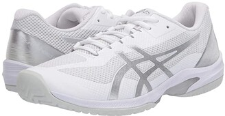 Asics Court Speed FF (White/Pure Silver) Men's Tennis Shoes