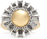Susan Foster Diamond, platinum & yellow-gold ring